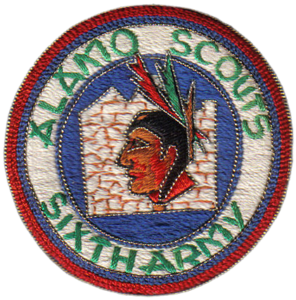 Theater made version of an Alamo Scout patch produced in Japan during the Korean War (1950-53). Courtesy of Alamo Scout James Steele.