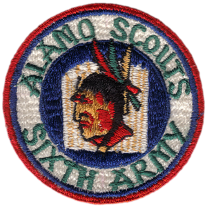 Unknown replica Alamo Scout patch. Courtesy of Lance Zedric